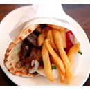 Lamb Doner Meat & Chips